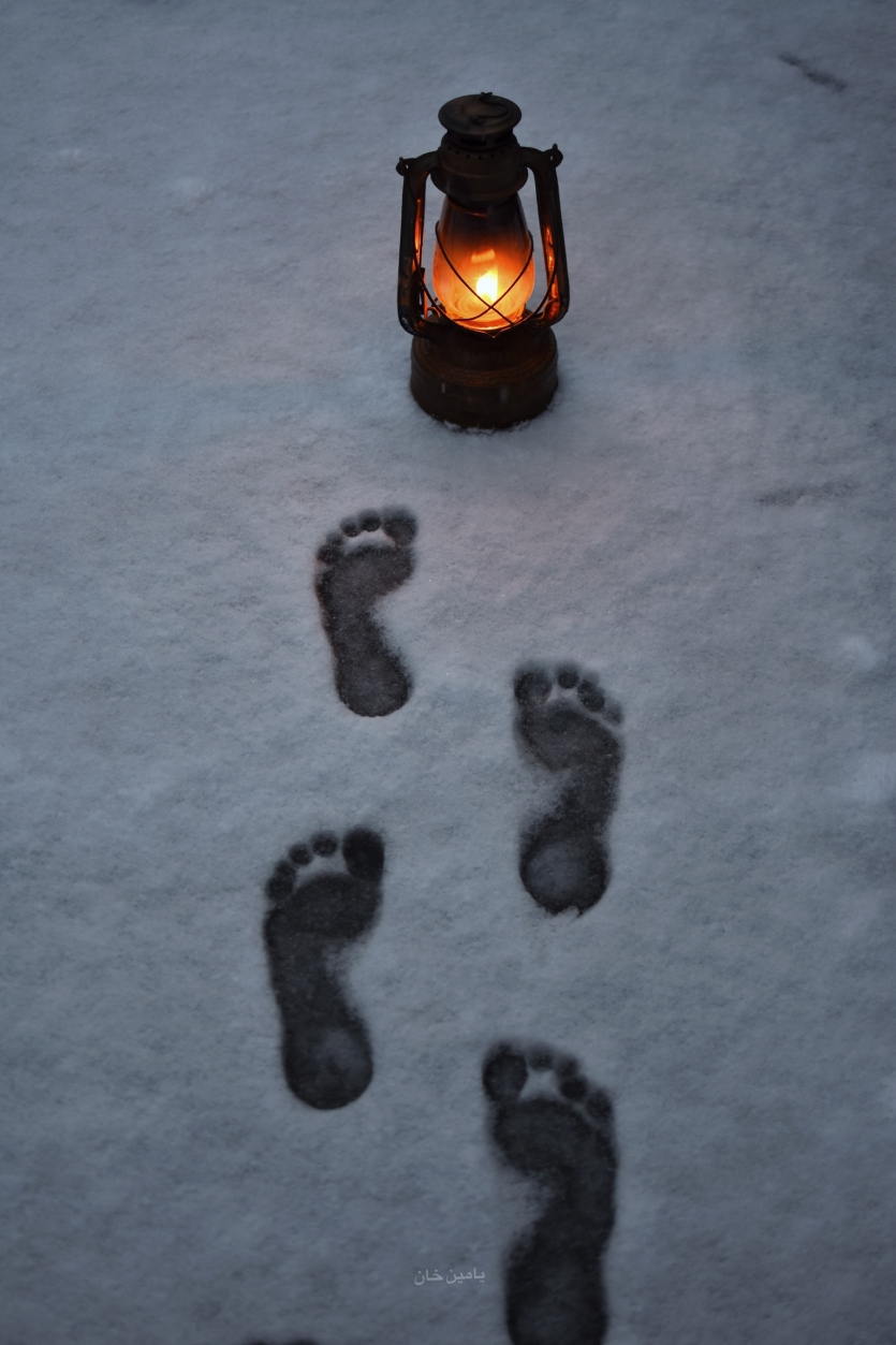 Footprints without feet.