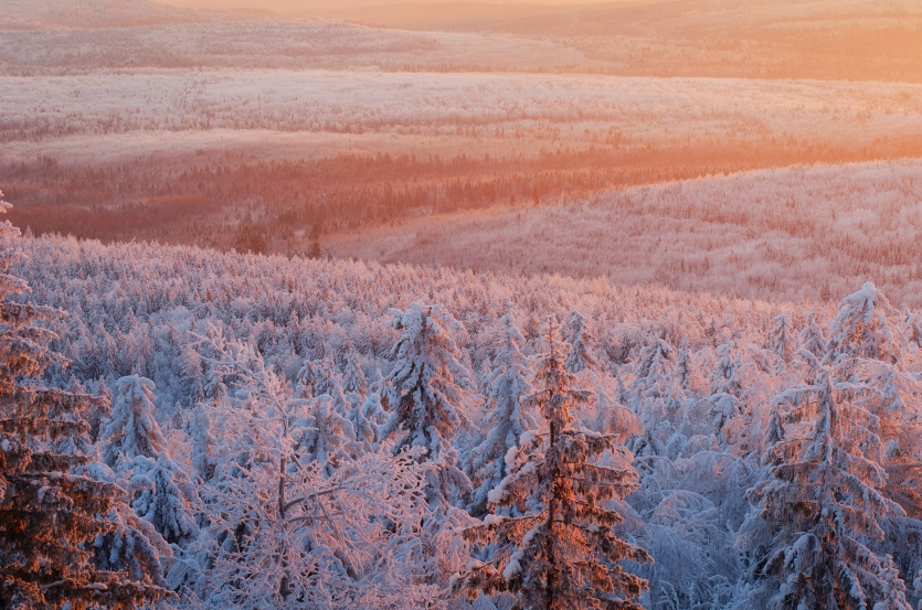 In the valley of light! Taken from the mountain Kolpaki, Perm region.