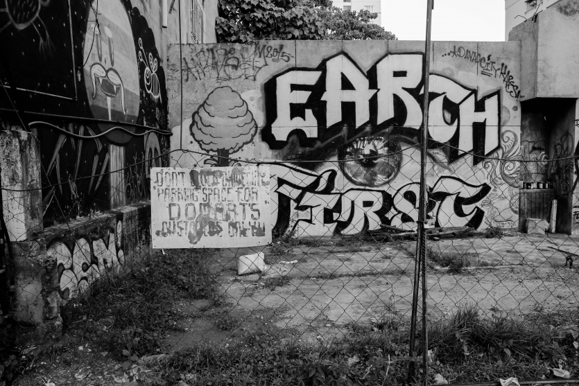Earth First (Black and White)