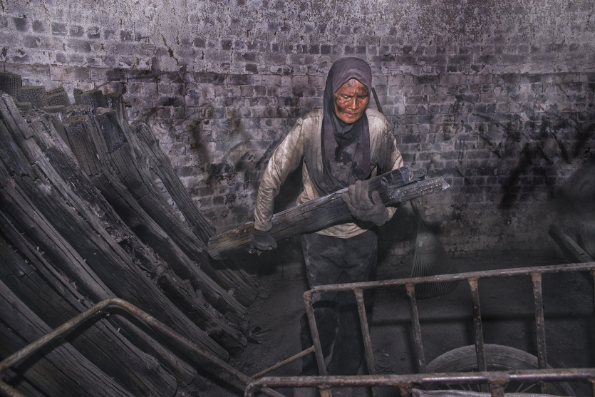 Charcoal Factory Worker