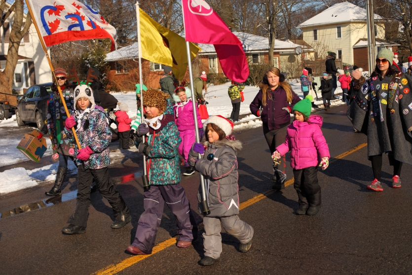 Canada, parade of Santa Clauses