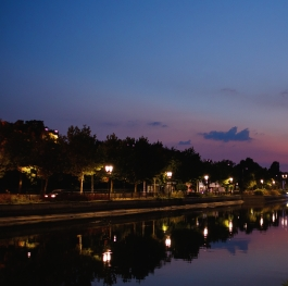 River Dambovitza in the night