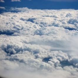 View sky from Airplane