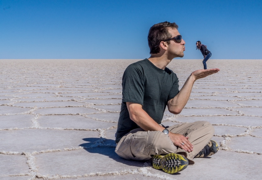 Romance in the Bolivian Salt Flats