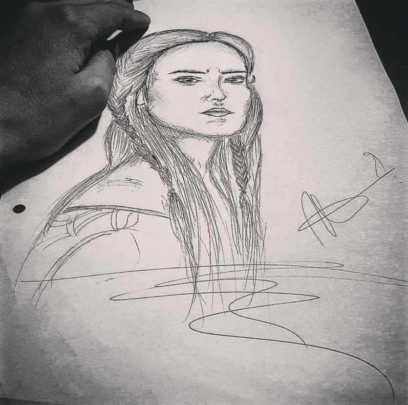 Sketched women