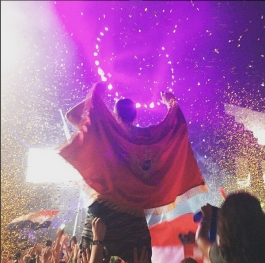 Montenegro flag @ Ultra Europe 2015