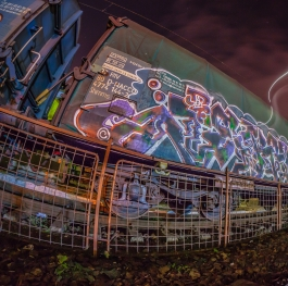 Graffiti train art