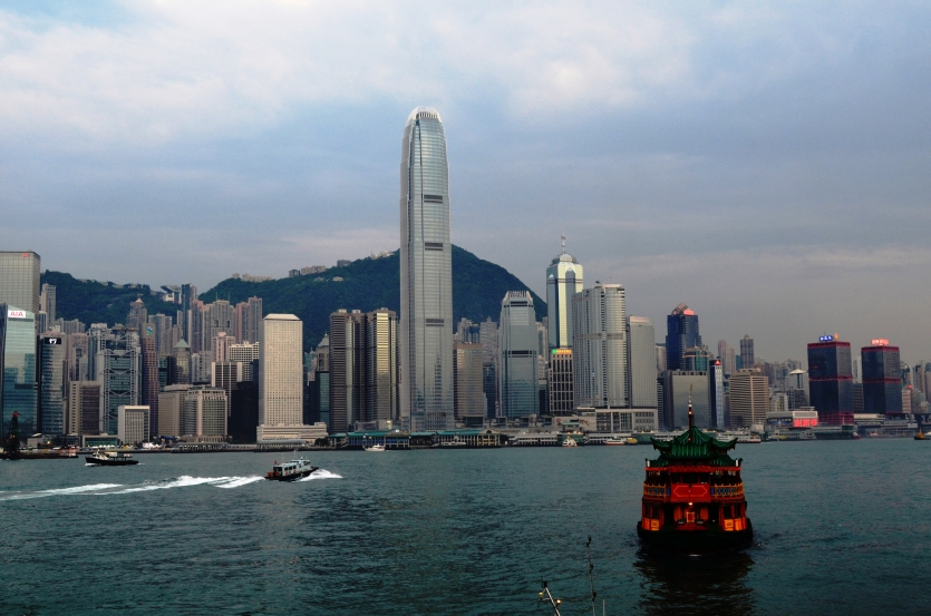 Hong Kong view from Avenue of Stars