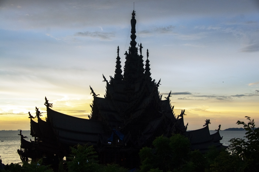 The Sanctuary Of Truth at sunset