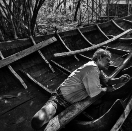 Making of wooden boat