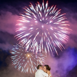 Love under the fireworks