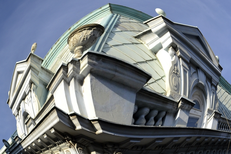 detail of the roof of the old building in Belgrade, Serbia