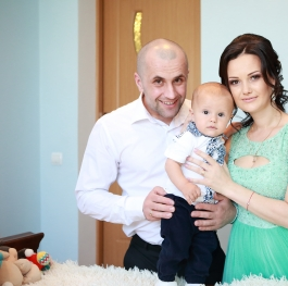 A young family in Moldova
