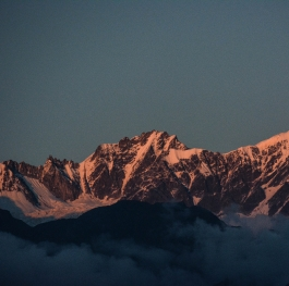 Sunset in Panchachuli,a peak of mount everest,India,Uttarakhand