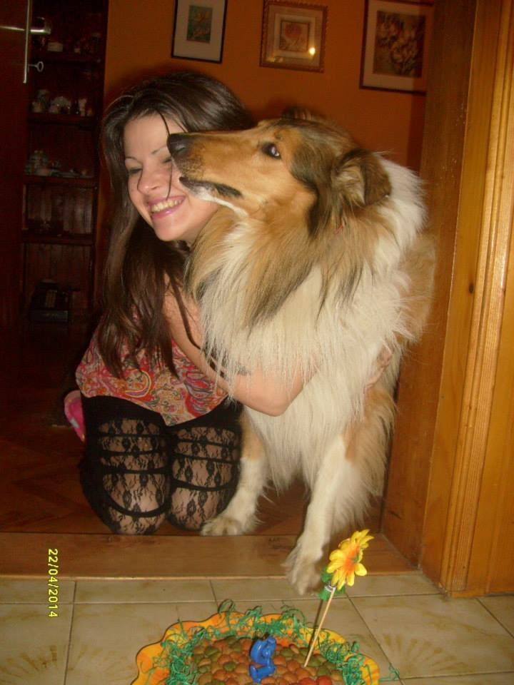 My dog Amor and me