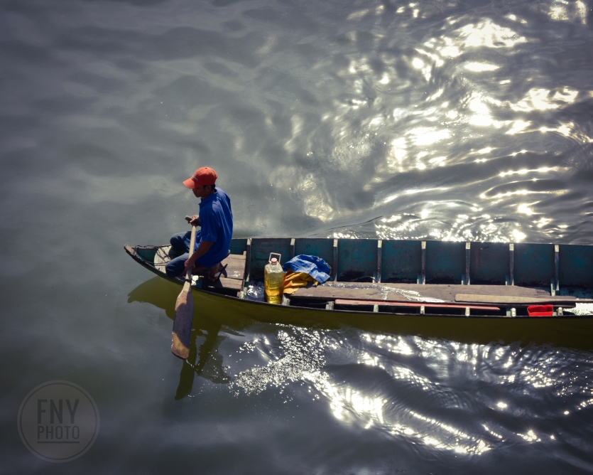 Man on the Wooden Boat