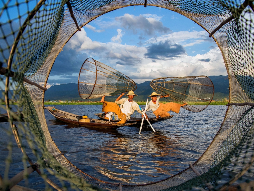 Intha Fishermen at Inle Lake