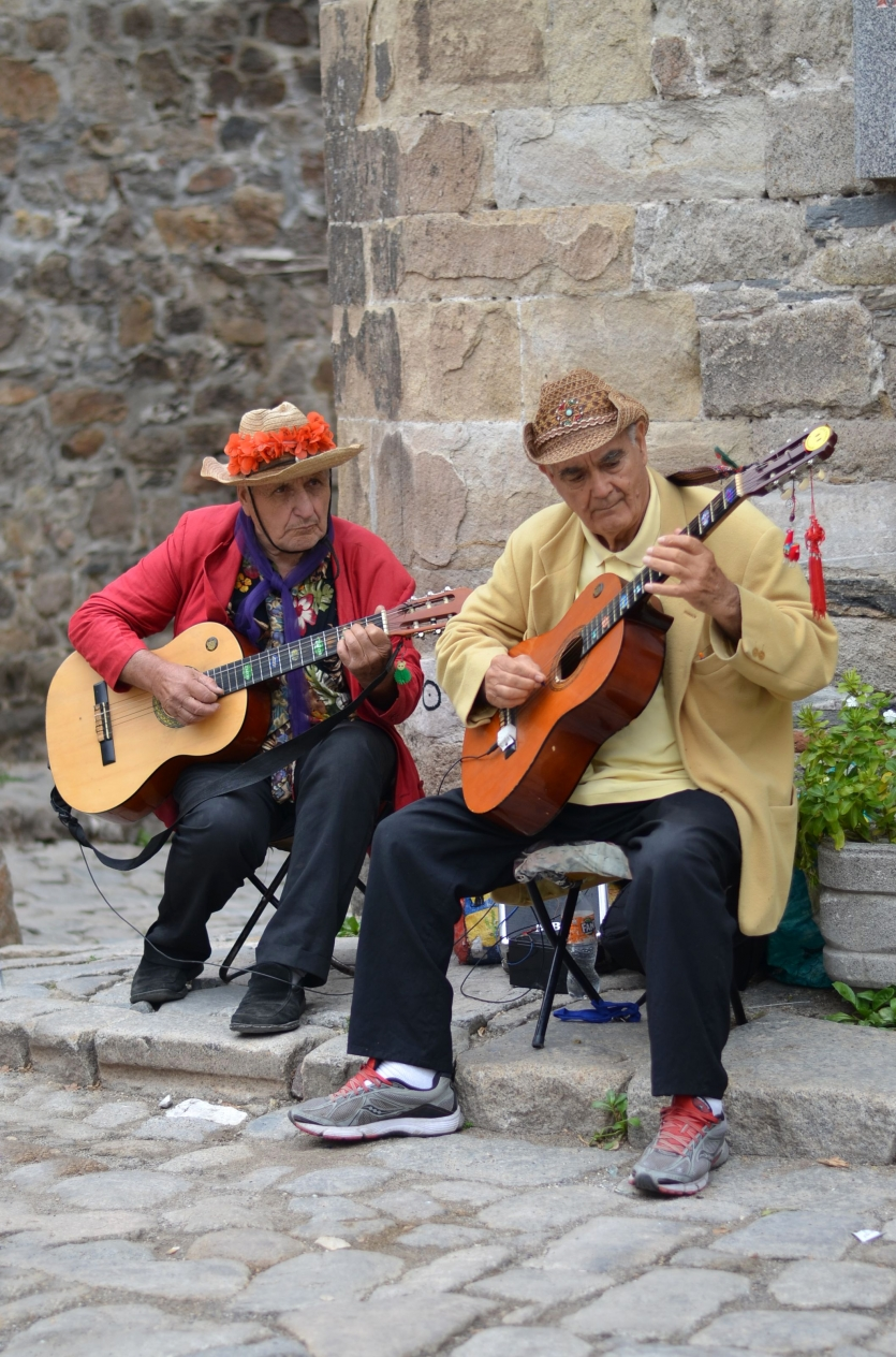 The Guitars Came to Life in the Hands of a Streets Musicians