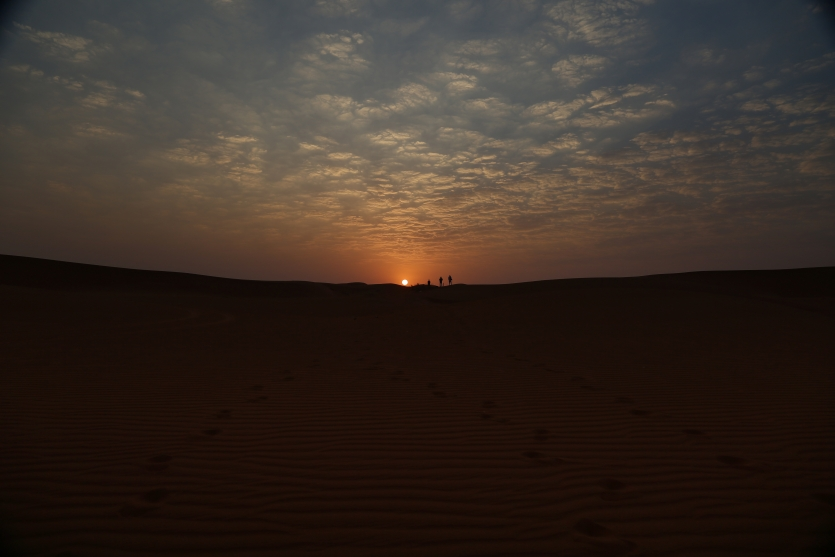 The sunrise of Desert