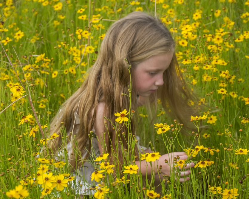Girl in wildflowers