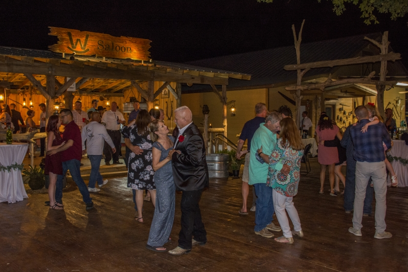 Dancing at the Rocking W Saloon