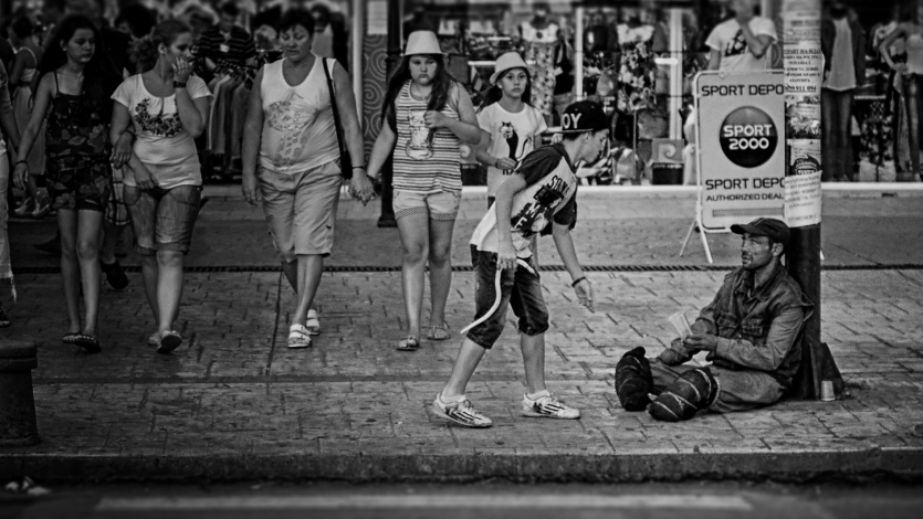 the beggar and the guy