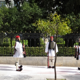 Changing the Guard (Evzones) in front of Presidential Palace in Athens