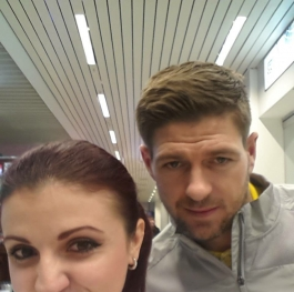 Steven Gerrard and me:)