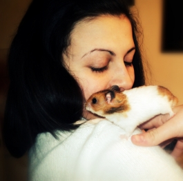 Me and my cute hamster.