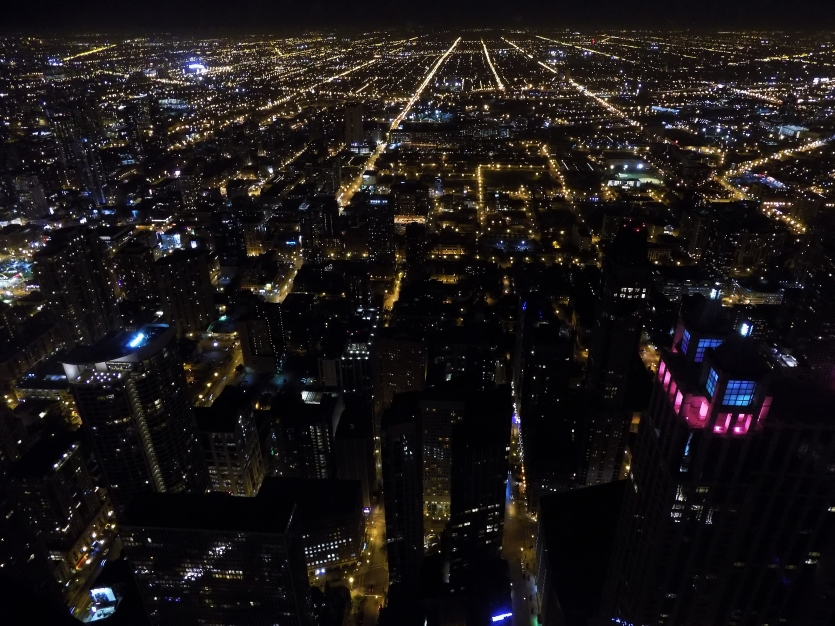 Lights in the city of Chicago