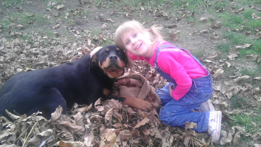 Our dog and my niece :)