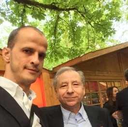 Me and Mr. Jean Todt - President FIA