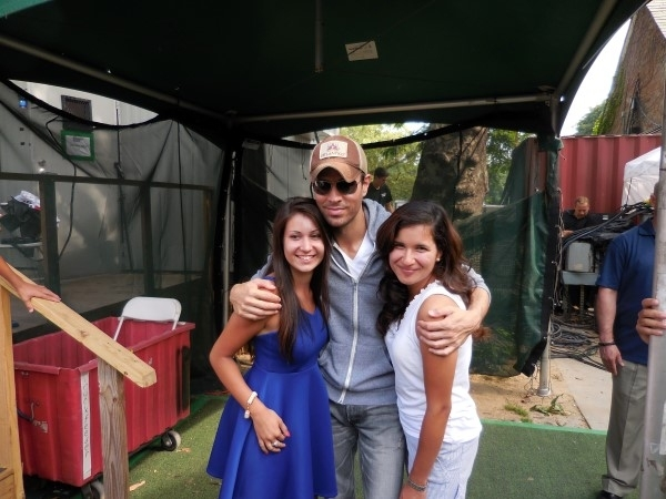 Enrique iglesias and me in NYC