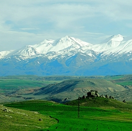 A beautiful view of Mount Erdges in Central Anatolia Turkey