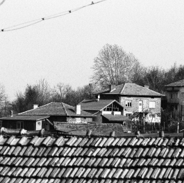 Black and white houses in Klyuch Bulgaria