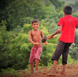 Friendship: Child, Smile and Toy