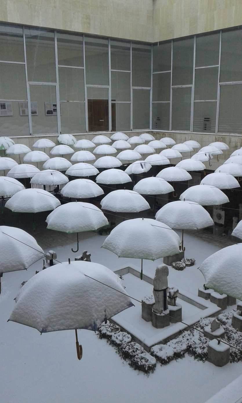 Snow umbrellas